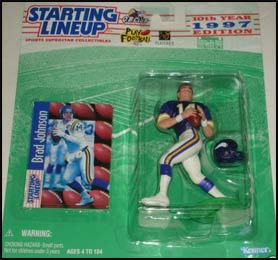 1997 Football Brad Johnson Starting Lineup Picture