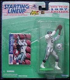 1997 Football Deion Sanders Starting Lineup Picture