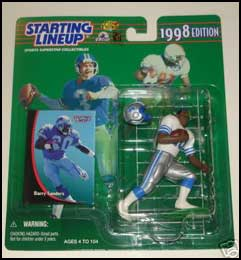 1998 Football Barry Sanders Starting Lineup Picture