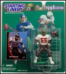 1998 Football Derrick Brooks Starting Lineup Picture