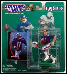 1998 Football Drew Bledsoe Starting Lineup Picture