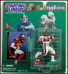 1998 Football Jerry Rice Starting Lineup Picture