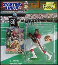 1999 Football Jerry Rice Starting Lineup Picture