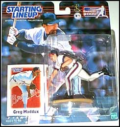 2000 Baseball Greg Maddux Starting Lineup Picture