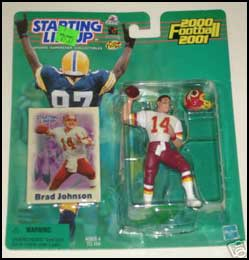 2000 Football Brad Johnson Starting Lineup Picture