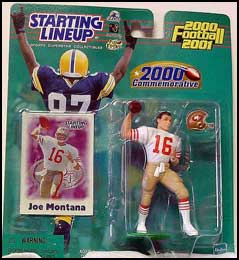 2000 Football Joe Montana Starting Lineup Picture