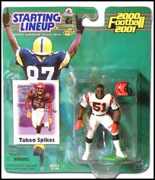 2000 Football Takeo Spikes Starting Lineup Picture