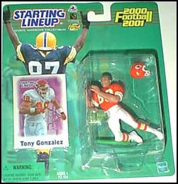2000 Football Tony Gonzalez Starting Lineup Picture